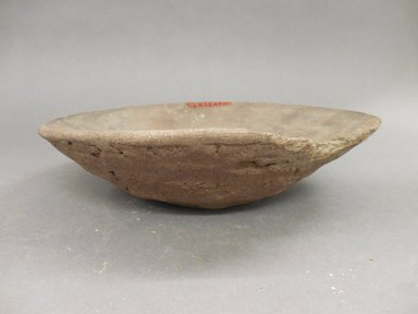 Ancient Pueblo (Anasazi). <em>Shallow Plainware dish</em>. Clay, slip, 2 1/4 x 8 3/4 (5.7 x 22.2 cm). Brooklyn Museum, Riggs Pueblo Pottery Fund, 02.257.2314. Creative Commons-BY (Photo: Brooklyn Museum, CUR.02.257.2314.jpg)