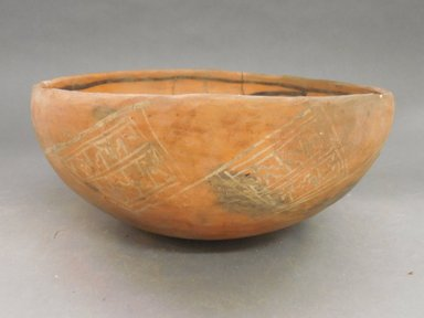 Ancient Pueblo (Anasazi). <em>Bowl</em>. Clay, slip, 11 x 11 3/4 in. (27.9 x 29.8 cm). Brooklyn Museum, Riggs Pueblo Pottery Fund, 02.257.2329. Creative Commons-BY (Photo: Brooklyn Museum, CUR.02.257.2329_view1.jpg)
