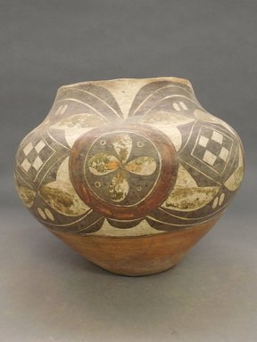 Haak'u (Acoma Pueblo). <em>Water Jar</em>, 1868-1900. Clay, slip, pigment, 9 7/8 x 6 3/4 in (25.1 x 17.1 cm). Brooklyn Museum, Riggs Pueblo Pottery Fund, 02.257.2382. Creative Commons-BY (Photo: Brooklyn Museum, CUR.02.257.2382.jpg)