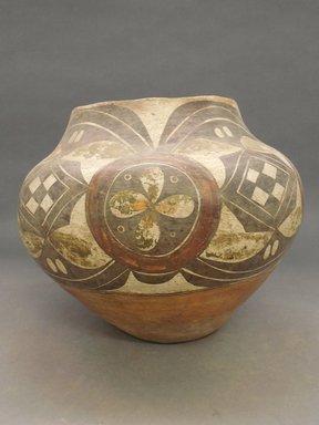 Haak'u (Acoma Pueblo). <em>Water Jar</em>, 1868-1900. Clay, slip, pigment, 9 7/8 x 6 3/4 in (25.1 x 17.1 cm). Brooklyn Museum, Riggs Pueblo Pottery Fund, 02.257.2382. Creative Commons-BY (Photo: Brooklyn Museum, CUR.02.257.2382.jpg)