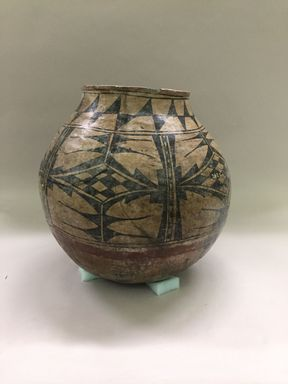 Ko-Tyit (Cochiti Pueblo). <em>Jar or Bowl (Olla?)</em>. Clay, slip, 16 x 8 5/8 in.  (40.6 x 21.9 cm). Brooklyn Museum, Riggs Pueblo Pottery Fund, 02.257.2420. Creative Commons-BY (Photo: , CUR.02.257.2420.jpg)