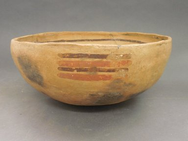 Ancient Pueblo (Anasazi). <em>Bowl</em>. Clay, slip, 4 5/8 x 9 7/8 in.  (11.7 x 25.1 cm). Brooklyn Museum, Riggs Pueblo Pottery Fund, 02.257.2438. Creative Commons-BY (Photo: Brooklyn Museum, CUR.02.257.2438_view1.jpg)