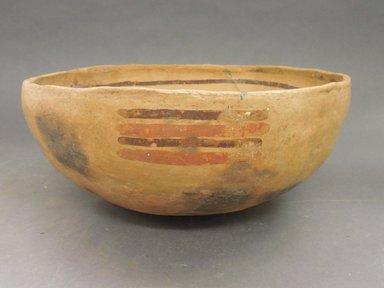 Ancient Pueblo (Anasazi). <em>Bowl</em>. Clay, slip, 4 5/8 x 9 7/8 in.  (11.7 x 25.1 cm). Brooklyn Museum, Riggs Pueblo Pottery Fund, 02.257.2438. Creative Commons-BY (Photo: Brooklyn Museum, CUR.02.257.2438_view1.jpg)
