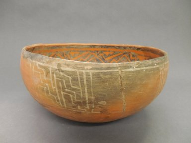 Ancient Pueblo (Anasazi). <em>Bowl</em>, 1275-1400 C.E. Clay, slip, pigment, 5 x 10 1/4 in. (12.7 x 26 cm). Brooklyn Museum, Riggs Pueblo Pottery Fund, 02.257.2440. Creative Commons-BY (Photo: Brooklyn Museum, CUR.02.257.2440_view1.jpg)