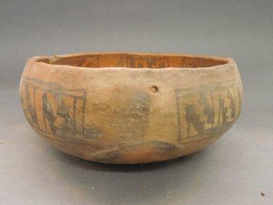Ancient Pueblo (Anasazi). <em>Bowl</em>. Clay, slip, 3 3/4 x 9 1/8 in. (9.5 x 23.2 cm). Brooklyn Museum, Riggs Pueblo Pottery Fund, 02.257.2449. Creative Commons-BY (Photo: Brooklyn Museum, CUR.02.257.2449_view1.jpg)