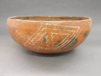 Ancient Pueblo (Anasazi). <em>Heshotauthla Polychrome Bowl</em>, 1275-1400C.E. Clay, slip, 5 1/4 x 10 1/2 in. (13.3 x 26.7 cm). Brooklyn Museum, Riggs Pueblo Pottery Fund, 02.257.2452. Creative Commons-BY (Photo: Brooklyn Museum, CUR.02.257.2452_view1.jpg)