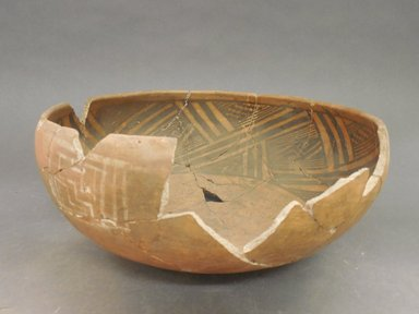 Ancient Pueblo (Anasazi). <em>Bowl</em>. Clay, slip, 4 3/4 x 11 in. (12.1 x 27.9 cm). Brooklyn Museum, Riggs Pueblo Pottery Fund, 02.257.2456. Creative Commons-BY (Photo: Brooklyn Museum, CUR.02.257.2456_view1.jpg)