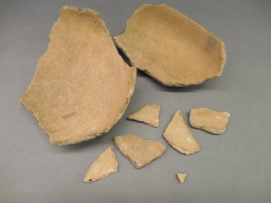 Ancient Pueblo (Anasazi). <em>Half-bowl</em>. Clay, 3 1/8 x 6 5/8 in.  (7.9 x 16.8 cm). Brooklyn Museum, Riggs Pueblo Pottery Fund, 02.257.2458. Creative Commons-BY (Photo: Brooklyn Museum, CUR.02.257.2458.jpg)