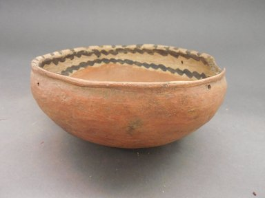 Ancient Pueblo (Anasazi). <em>Bowl</em>. Clay, slip, 3 1/8 x 7 1/4 in.  (7.9 x 18.4 cm). Brooklyn Museum, Riggs Pueblo Pottery Fund, 02.257.2481. Creative Commons-BY (Photo: Brooklyn Museum, CUR.02.257.2481.jpg)
