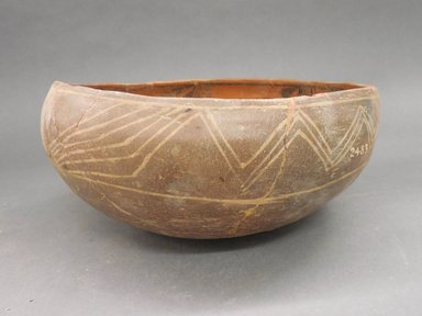 Ancient Pueblo (Anasazi). <em>Bowl</em>. Clay, slip, 4 1/4 x 9 3/4 in. (10.8 x 24.8 cm). Brooklyn Museum, Riggs Pueblo Pottery Fund, 02.257.2483. Creative Commons-BY (Photo: Brooklyn Museum, CUR.02.257.2483_view1.jpg)