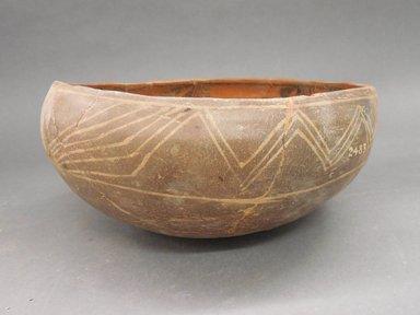 Ancient Pueblo (Anasazi). <em>Bowl</em>. Clay, slip, 4 1/4 x 9 3/4 in. (10.8 x 24.8 cm). Brooklyn Museum, Riggs Pueblo Pottery Fund, 02.257.2483. Creative Commons-BY (Photo: Brooklyn Museum, CUR.02.257.2483_view1.jpg)