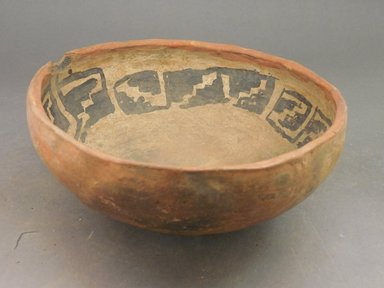 Ancient Pueblo (Anasazi). <em>Bowl</em>. Clay, slip, 3 x 7 in.  (7.6 x 17.8 cm). Brooklyn Museum, Riggs Pueblo Pottery Fund, 02.257.2490. Creative Commons-BY (Photo: Brooklyn Museum, CUR.02.257.2490.jpg)