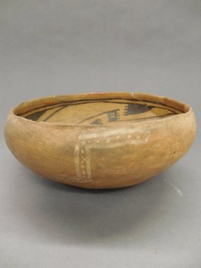 Ancient Pueblo (Anasazi). <em>Bowl</em>. Clay, slip, pigment, 4 x 9 in. (10.2 x 22.9 cm). Brooklyn Museum, Riggs Pueblo Pottery Fund, 02.257.2495. Creative Commons-BY (Photo: Brooklyn Museum, CUR.02.257.2495_view1.jpg)