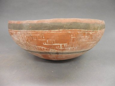 Ancient Pueblo (Anasazi). <em>Bowl</em>. Clay, slip, pigment, 5 x 10 in (12.7 x 25.4 cm). Brooklyn Museum, Riggs Pueblo Pottery Fund, 02.257.2501. Creative Commons-BY (Photo: Brooklyn Museum, CUR.02.257.2501_view1.jpg)