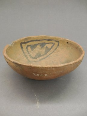 Ancient Pueblo (Anasazi). <em>Bowl</em>. Clay, slip, pigment, 2 7/8 x 6 3/4 in.  (7.3 x 17.1 cm). Brooklyn Museum, Riggs Pueblo Pottery Fund, 02.257.2502. Creative Commons-BY (Photo: Brooklyn Museum, CUR.02.257.2502_view1.jpg)
