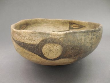 Ancient Pueblo (Anasazi). <em>Bowl</em>. Clay, slip, 3 13/16 x 7 3/4 in (9 x 19 cm). Brooklyn Museum, Riggs Pueblo Pottery Fund, 02.257.2505. Creative Commons-BY (Photo: Brooklyn Museum, CUR.02.257.2505_view1.jpg)