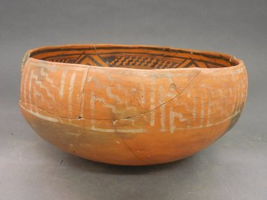 Ancient Pueblo (Anasazi). <em>Bowl</em>. Clay, slip, 5 1/4 x 10 1/2 in (13.3 x 26.7 cm). Brooklyn Museum, Riggs Pueblo Pottery Fund, 02.257.2509. Creative Commons-BY (Photo: Brooklyn Museum, CUR.02.257.2509_view1.jpg)