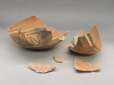 Ancient Pueblo (Anasazi). <em>Bowl</em>. Clay, slip, 3 3/4 x 7 1/4 in. (9.5 x 18.4 cm). Brooklyn Museum, Riggs Pueblo Pottery Fund, 02.257.2516. Creative Commons-BY (Photo: Brooklyn Museum, CUR.02.257.2516.jpg)
