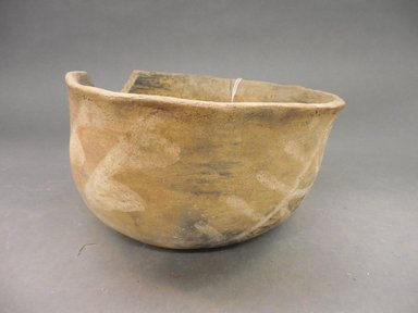 Ancient Pueblo (Anasazi). <em>Bowl</em>. Clay, slip, 4 1/4 x 7 1/8 in. (10.8 x 18.1 cm). Brooklyn Museum, Riggs Pueblo Pottery Fund, 02.257.2523. Creative Commons-BY (Photo: Brooklyn Museum, CUR.02.257.2523.jpg)