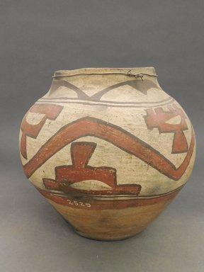 Hopi-Tewa Pueblo. <em>Bowl or Jar</em>. Clay, 9 1/4 x 5 3/8 in.  (23.5 x 13.7 cm). Brooklyn Museum, Riggs Pueblo Pottery Fund, 02.257.2529. Creative Commons-BY (Photo: Brooklyn Museum, CUR.02.257.2529.jpg)