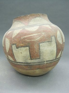 Pueblo, Keres. <em>Water Jar</em>. Clay, slip, 7 1/2 x 5 3/8 in.  (19.1 x 13.7 cm). Brooklyn Museum, Riggs Pueblo Pottery Fund, 02.257.2530. Creative Commons-BY (Photo: Brooklyn Museum, CUR.02.257.2530.jpg)