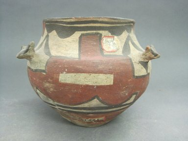 Na-Fiat (Sandia Pueblo) (Keres). <em>Jar</em>. Clay, pigment, 5 1/6 x 4 3/8 in.  (13.1 x 11.1 cm). Brooklyn Museum, Riggs Pueblo Pottery Fund, 02.257.2541. Creative Commons-BY (Photo: Brooklyn Museum, CUR.02.257.2541_view1.jpg)