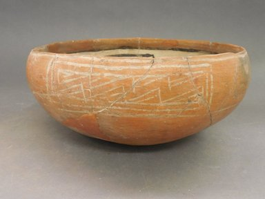 Ancient Pueblo (Anasazi). <em>Kwakina Polychrome Bowl</em>, 1325-1400C.E. Clay, slip, pigment, 4 1/2 in.  (11.4 cm). Brooklyn Museum, Riggs Pueblo Pottery Fund, 02.257.2555. Creative Commons-BY (Photo: Brooklyn Museum, CUR.02.257.2555_view1.jpg)