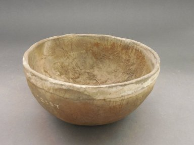 Ancient Pueblo (Anasazi). <em>Bowl</em>. Clay, 3 1/2 x 7 in.  (8.9 x 17.8 cm). Brooklyn Museum, Riggs Pueblo Pottery Fund, 02.257.2557. Creative Commons-BY (Photo: Brooklyn Museum, CUR.02.257.2557.jpg)