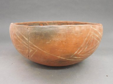 Ancient Pueblo (Anasazi). <em>Bowl</em>, 1275-1400C.E. Clay, slip, 4 7/8 x 10 3/4 in.  (12.4 x 27.3 cm). Brooklyn Museum, Riggs Pueblo Pottery Fund, 02.257.2558. Creative Commons-BY (Photo: Brooklyn Museum, CUR.02.257.2558_view1.jpg)