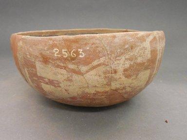 Ancient Pueblo (Anasazi). <em>Bowl</em>. Clay, slip, 3 1/2 7 7/8 in.  (8.9 x 20 cm). Brooklyn Museum, Riggs Pueblo Pottery Fund, 02.257.2563. Creative Commons-BY (Photo: Brooklyn Museum, CUR.02.257.2563_view1.jpg)