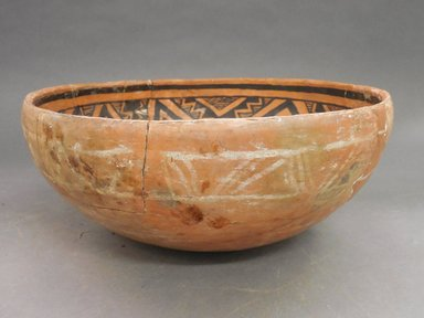 Ancient Pueblo (Anasazi). <em>Bowl</em>. Clay, slip, 5 x 11 1/2 in (12.7 x 29.2 cm). Brooklyn Museum, Riggs Pueblo Pottery Fund, 02.257.2564. Creative Commons-BY (Photo: Brooklyn Museum, CUR.02.257.2564_view1.jpg)