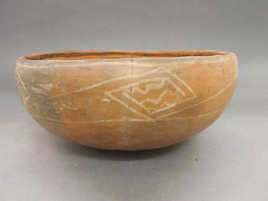 Ancient Pueblo (Anasazi). <em>Heshotauthla Polychrome Bowl</em>, 1275-1400C.E. Clay, slip, 5 1/4 x 10 1/4 in.  (13.3 x 26.0 cm). Brooklyn Museum, Riggs Pueblo Pottery Fund, 02.257.2567. Creative Commons-BY (Photo: Brooklyn Museum, CUR.02.257.2567_view1.jpg)