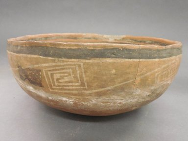Ancient Pueblo (Anasazi). <em>Bowl</em>. Clay, slip, 4 3/8 x 9 5/8 in.  (11.1 x 24.4 cm). Brooklyn Museum, Riggs Pueblo Pottery Fund, 02.257.2576. Creative Commons-BY (Photo: Brooklyn Museum, CUR.02.257.2576_view1.jpg)