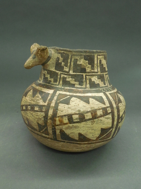 She-we-na (Zuni Pueblo). <em>Decorated Jar or Vase</em>, late 19th century. Clay, pigment, 4 3/4 x 3 in. (12.0 x 7.6 cm). Brooklyn Museum, Riggs Pueblo Pottery Fund, 02.257.2578. Creative Commons-BY (Photo: Brooklyn Museum, CUR.02.257.2578.jpg)