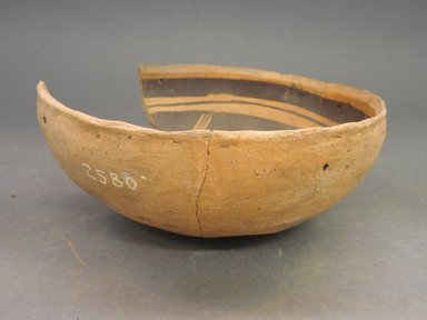 Ancient Pueblo (Anasazi). <em>Bowl</em>. Clay, slip, 3 x 3 5/8 in.  (7.6 x 9.2 cm). Brooklyn Museum, Riggs Pueblo Pottery Fund, 02.257.2580. Creative Commons-BY (Photo: Brooklyn Museum, CUR.02.257.2580_view1.jpg)