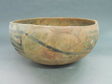 Ancient Pueblo (Anasazi). <em>Bowl</em>. Clay, slip, 5 3/8 x 10 3/8 in.  (13.7 x 26.4 cm). Brooklyn Museum, Riggs Pueblo Pottery Fund, 02.257.2585. Creative Commons-BY (Photo: Brooklyn Museum, CUR.02.257.2585_view1.jpg)