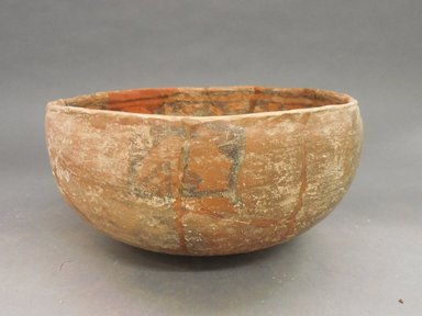 Ancient Pueblo (Anasazi). <em>Bowl</em>. Clay, slip, 4 3/4 x 9 3/8 in.  (12.1 x 23.8 cm). Brooklyn Museum, Riggs Pueblo Pottery Fund, 02.257.2586. Creative Commons-BY (Photo: Brooklyn Museum, CUR.02.257.2586_view1.jpg)