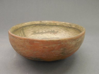 Ancient Pueblo (Anasazi). <em>Bowl</em>. Clay, slip, 2 3/4 x 6 3/8 in.  (7.0 x 16.2 cm). Brooklyn Museum, Riggs Pueblo Pottery Fund, 02.257.2614. Creative Commons-BY (Photo: Brooklyn Museum, CUR.02.257.2614_view1.jpg)