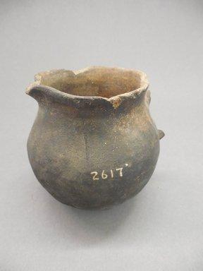 Ancient Pueblo (Anasazi). <em>Pitcher</em>. Clay, slip, 4 1/8 x 3 1/8 in. (10.5 x 7.9 cm). Brooklyn Museum, Riggs Pueblo Pottery Fund, 02.257.2617. Creative Commons-BY (Photo: Brooklyn Museum, CUR.02.257.2617.jpg)