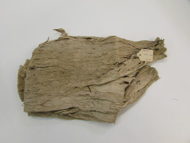 Hawaiian. <em>Specimen of First Stage of Tapa (Wauke) or Tapa Bed Covering (Kapa moe)</em>, mid 19th-early 20th century. Barkcloth, 109 7/16 x 81 7/8in. (278 x 208cm). Brooklyn Museum, Gift of George C. Brackett and Robert B. Woodward, 02.258.2634. Creative Commons-BY (Photo: , CUR.02.258.2634_overall.jpg)