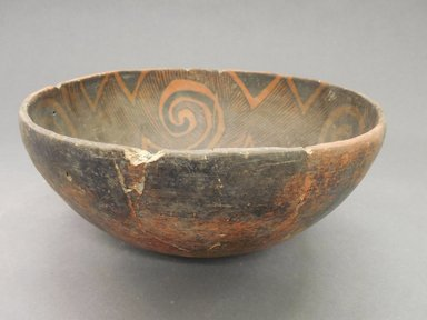 Ancient Pueblo (Anasazi). <em>Bowl</em>. Clay, slip, 3 7/8 x 8 3/4 in. (9.8 x 22.2 cm). Brooklyn Museum, Gift of Charles A. Schieren, 02.259.2702. Creative Commons-BY (Photo: Brooklyn Museum, CUR.02.259.2702_view1.jpg)