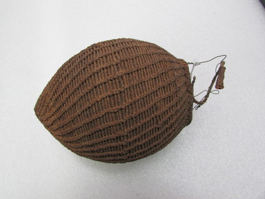 Fijian. <em>Bottle</em>. Coconut shell, fiber, 5 11/16 x 7 1/16 in. (14.5 x 18 cm). Brooklyn Museum, Brooklyn Museum Collection, 02.99. Creative Commons-BY (Photo: , CUR.02.99_view01.jpg)