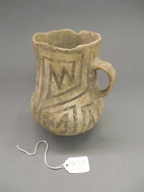 Ancient Pueblo (Anasazi). <em>Pitcher</em>, 1100-1300. Clay, slip, 6 1/8 x 5 in. (16.0 x 12.75 cm). Brooklyn Museum, Museum Expedition 1903, Purchased with funds given by A. Augustus Healy and George Foster Peabody, 03.325.10779. Creative Commons-BY (Photo: Brooklyn Museum, CUR.03.325.10779.jpg)