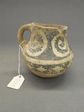 Ancient Pueblo (Anasazi). <em>Pitcher</em>, Probably 700-900, Pueblo I. Clay, slip, pigment, 4 1/4 x 4 1/2 in. (10.8 x 11.4 cm). Brooklyn Museum, Museum Expedition 1903, Purchased with funds given by A. Augustus Healy and George Foster Peabody, 03.325.10813. Creative Commons-BY (Photo: Brooklyn Museum, CUR.03.325.10813.jpg)
