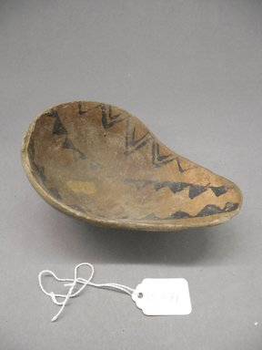 Ancient Pueblo (Anasazi). <em>Dipper</em>, 500-700, Basketmaker III (probably). Clay, 6 1/2 x 4 3/8 x 2 1/4 in. (16.5 x 11.1 x 5.7 cm). Brooklyn Museum, Museum Expedition 1903, Purchased with funds given by A. Augustus Healy and George Foster Peabody, 03.325.10871. Creative Commons-BY (Photo: Brooklyn Museum, CUR.03.325.10871_view1.jpg)