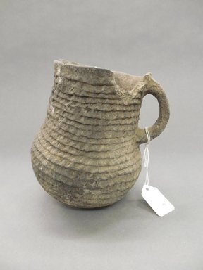 Ancient Pueblo (Anasazi). <em>Pitcher</em>, Probably 700-1300, Pueblo I-II. Clay, 6 x 5 in. (15.2 x 12.7 cm). Brooklyn Museum, Museum Expedition 1903, Purchased with funds given by A. Augustus Healy and George Foster Peabody, 03.325.10890. Creative Commons-BY (Photo: Brooklyn Museum, CUR.03.325.10890.jpg)