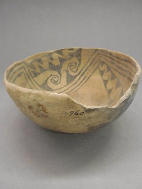 Pueblo (unidentified). <em>Bowl</em>, Probably 900-1100, Pueblo II. Clay, 3 1/2 x 6 3/4 in. (8.9 x 17.1 cm). Brooklyn Museum, Museum Expedition 1903, Purchased with funds given by A. Augustus Healy and George Foster Peabody, 03.325.10960. Creative Commons-BY (Photo: Brooklyn Museum, CUR.03.325.10960_view1.jpg)