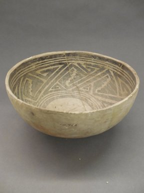 Ancient Pueblo (Anasazi). <em>Bowl</em>, Probably 1070-1300, Pueblo III. Clay, slip, 5 3/8 x 10 7/8 in. (13.7 x 27.6 cm). Brooklyn Museum, Museum Expedition 1903, Purchased with funds given by A. Augustus Healy and George Foster Peabody, 03.325.10966. Creative Commons-BY (Photo: Brooklyn Museum, CUR.03.325.10966_view1.jpg)