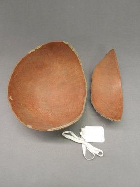 Ancient Pueblo (Anasazi). <em>Bowl Fragments</em>, Probably 700-1100, Pueblo I-II. Clay, slip, 7 7/8 x 3 3/8 in. (20 x 8.6 cm). Brooklyn Museum, Museum Expedition 1903, Purchased with funds given by A. Augustus Healy and George Foster Peabody, 03.325.10990. Creative Commons-BY (Photo: Brooklyn Museum, CUR.03.325.10990.jpg)