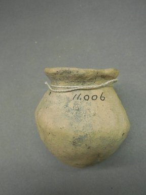 Pueblo. <em>Miniature Jar</em>. Clay, 3 x 2 3/4 in. (7.6 x 7 cm). Brooklyn Museum, Museum Expedition 1903, Purchased with funds given by A. Augustus Healy and George Foster Peabody, 03.325.11006. Creative Commons-BY (Photo: Brooklyn Museum, CUR.03.325.11006.jpg)